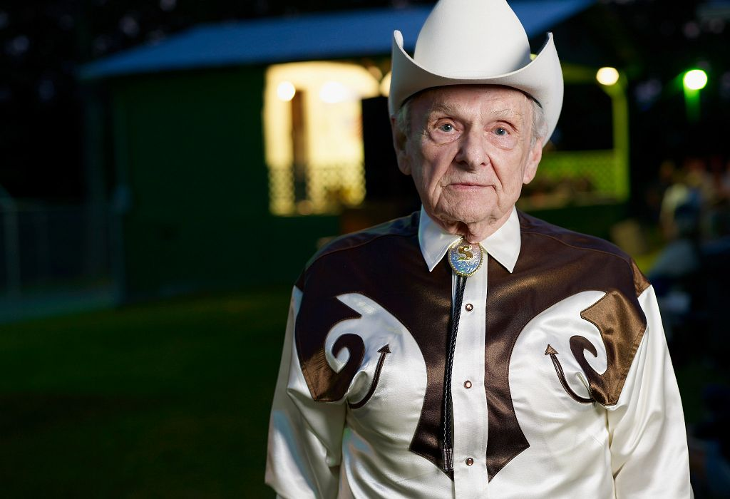 The late Ralph Stanley